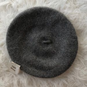 New Grey Wool French Beret Hat